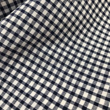 Gingham Fabric Felt - Navy