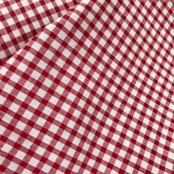 Gingham Fabric Felt - Red