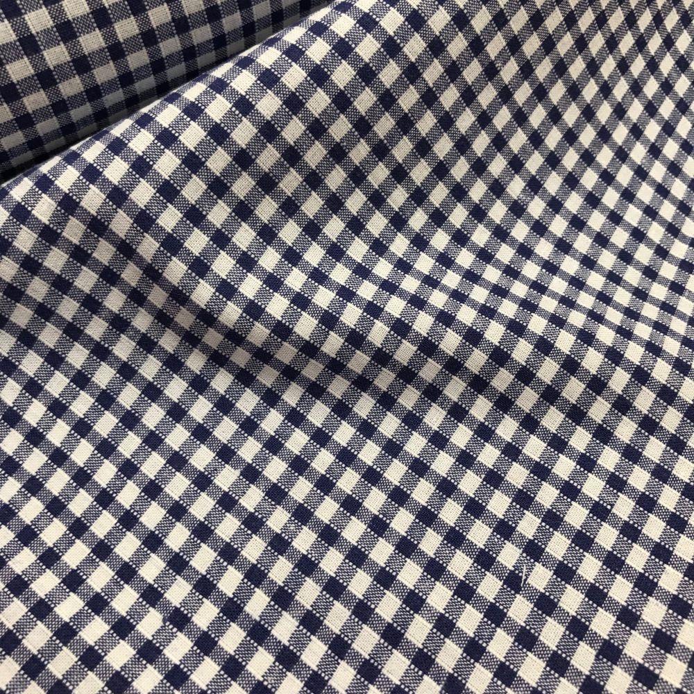 Gingham fabric felt royal blue - Point de sable tricot ...