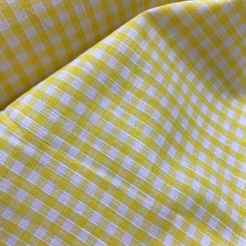 Gingham Fabric Felt - Yellow
