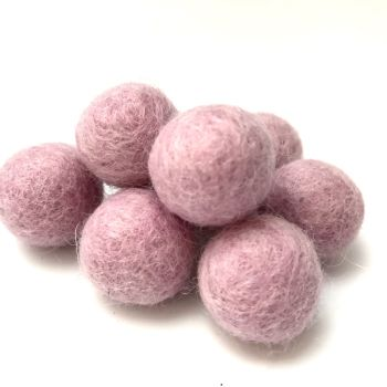 2cm Wool Felt Ball - Pale Pink