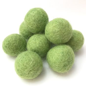 2cm Wool Felt Ball - Light Green
