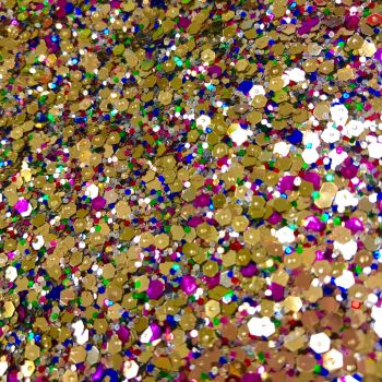 Crystal Chunky Glitter Fabric Sheet - Goldilocks