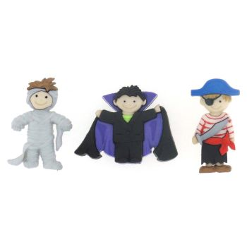 Dress It Up Button Pack - Ghoulies & Ghosts - Boys