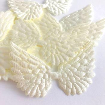 7cm Wing - Cream Satin