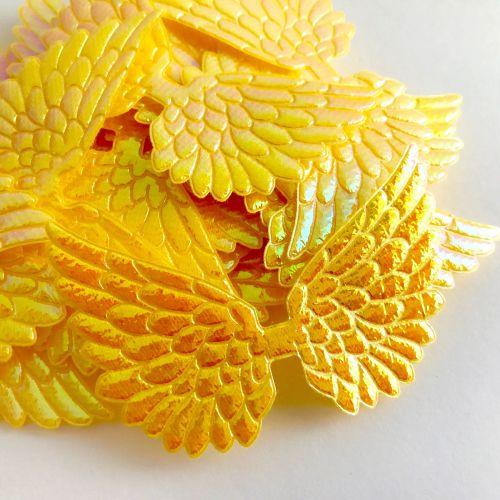 7cm Wing - Irridescent Yellow