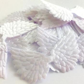 7cm Wing - White Satin