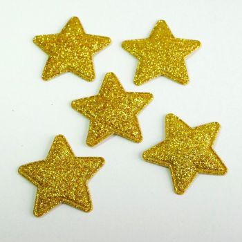 34mm Glitter Star - Gold