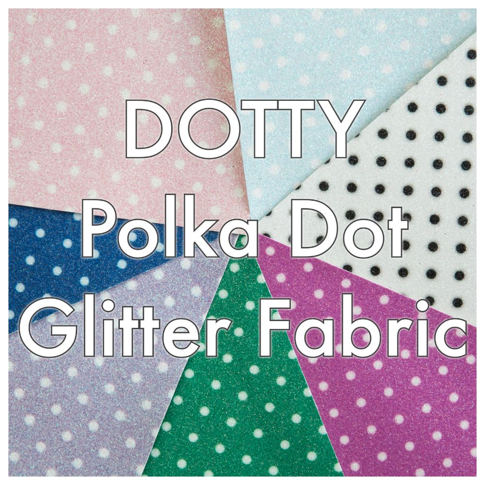 Dotty Polka Dot Glitter Fabric