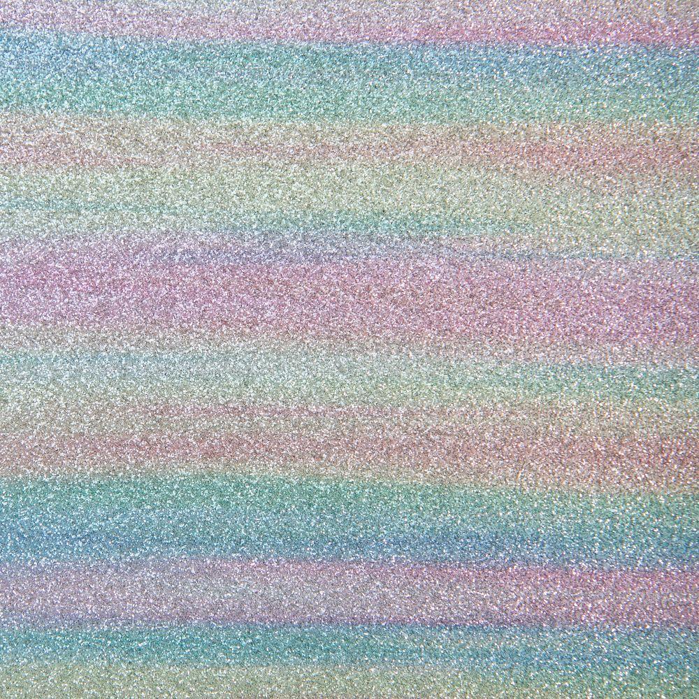 Rainbow Glitter Fabric