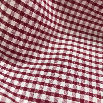 Gingham Fabric Felt - Burgundy