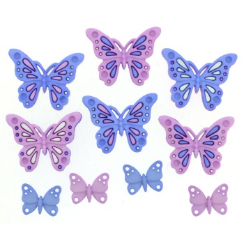 Dress It Up Button Pack - Sweet Butterflies