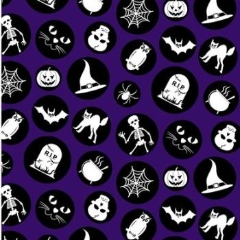 Fabric - Halloween - Ready Set Glow - Purple