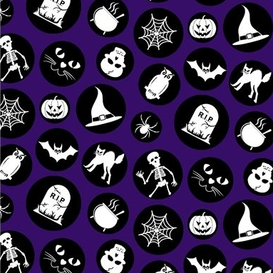 Halloween Fabric Felt - Ready Set Glow - Purple