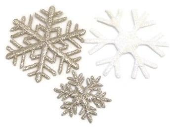Iron/Sew On Snowflake Motifs - Pack 1