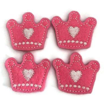 Summer Feltie - Crown - Candy Pink