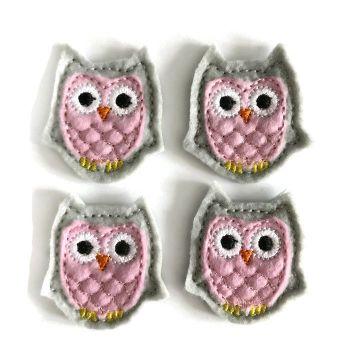 Feltie - Owl - Grey