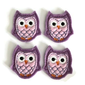 Feltie - Owl - Lilac
