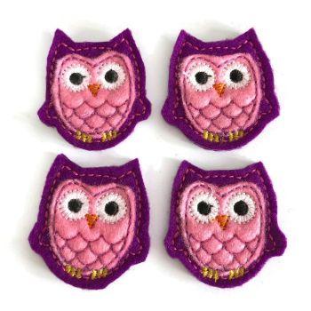 Feltie - Owl - Purple