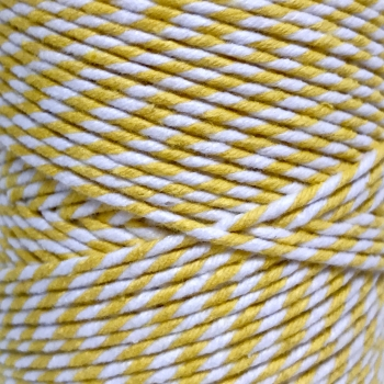 5 Metres - Bakers Twine: Yellow/White