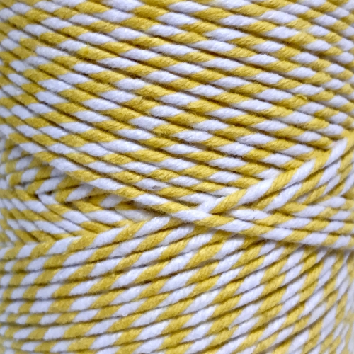 10m Bakers Twine: Yellow/White