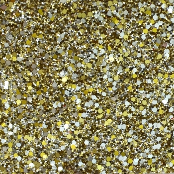 Exclusive Chunky Glitter Fabric A4 Sheet - Fools Gold