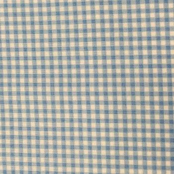 FABRIC FELT - Gingham - Light Blue