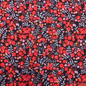 FABRIC FELT - Cotton Lawn - Red Berries