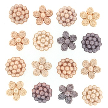 Dress it Up Button Pack - Vintage Pearls
