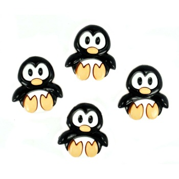 Dress it Up Button Pack - Playful Penguins