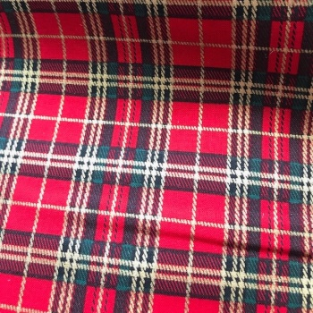 Tartan Fabric Felt - Metallic Red