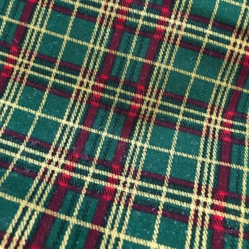 Tartan Fabric Felt - Metallic Green