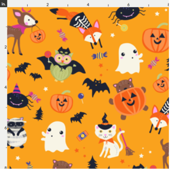 Halloween Artisan Fabric Felt - Woodland Fiends