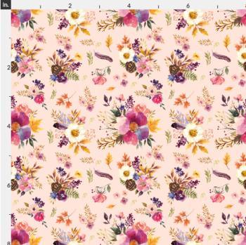 Artisan Fabric Felt - Autumn - Floral - Pink
