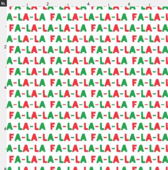 Artisan Fabric Felt - Christmas - FA LA LA LA LA!
