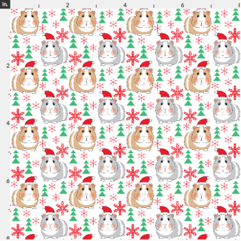 Artisan Fabric Felt - Christmas - Guinea Pigs