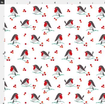 Artisan Fabric Felt - Christmas - Robins