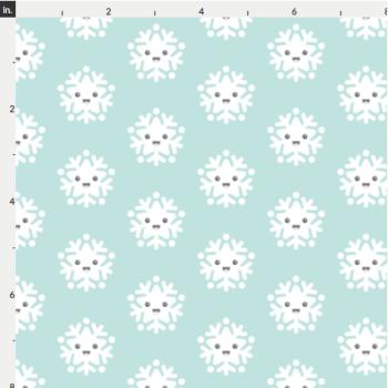 Christmas Artisan Fabric Felt - Smiling Snowflakes