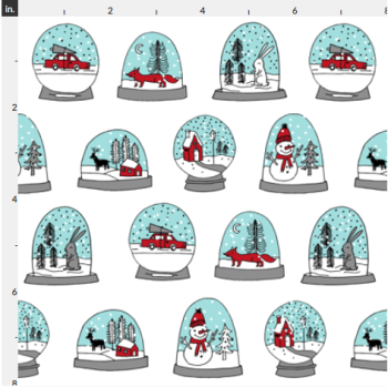 Christmas Artisan Fabric Felt - Snow Globes
