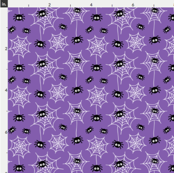 Artisan Fabric Felt - Halloween - Cobwebs - Purple