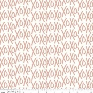 Fabric Felt - Metallic Rose Gold XOXOXO (25cm)