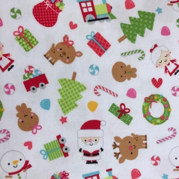 Christmas Fabric Felt - Santa & Friends - Brushed Cotton