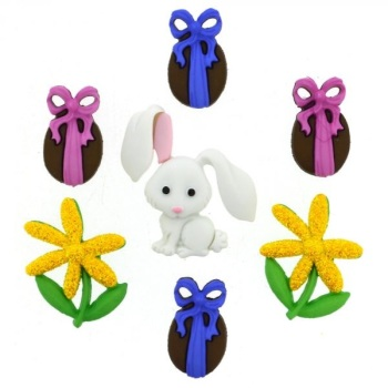 Dress It Up Button Pack - Bunny Hop
