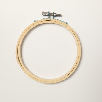 "4"" Round Wood Embroidery Hoop"