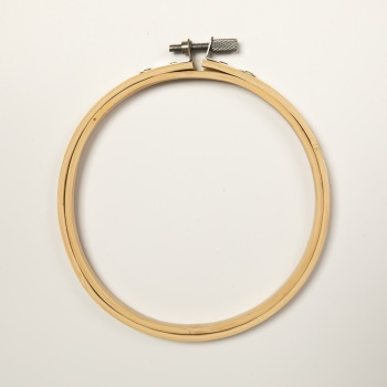 "5"" Round Wood Embroidery Hoop"