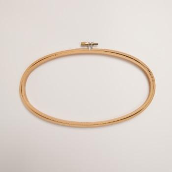 "5"" x 9"" Oval Wood Embroidery Hoop"