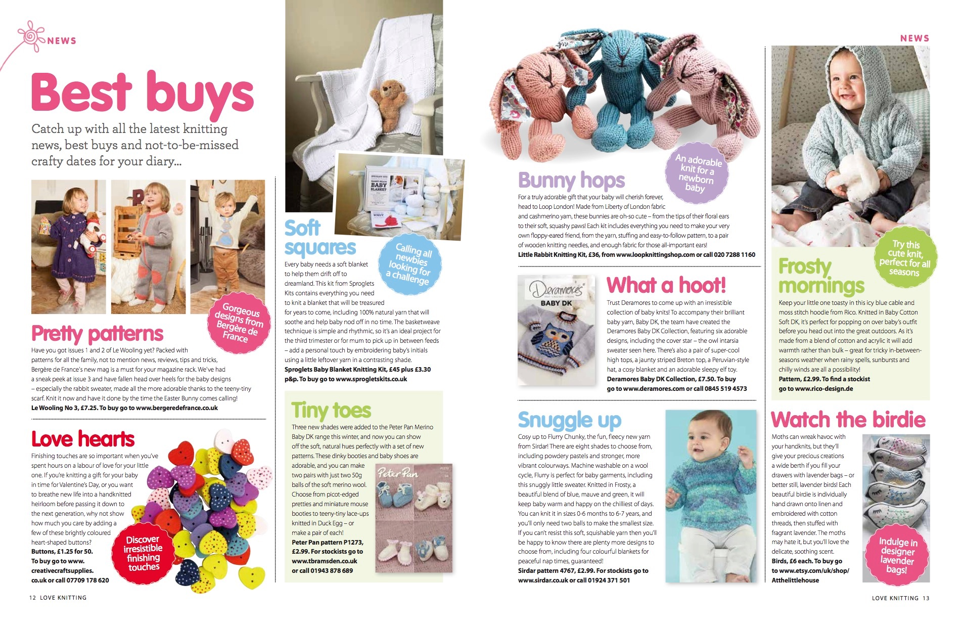 Buttons Feature Love Knitting Magazine