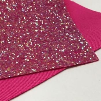 Exclusive Chunky Glitter Fabric Sheet - Bubblegum
