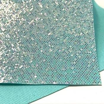 Exclusive Sequin Glitter Fabric Sheet - Seafoam