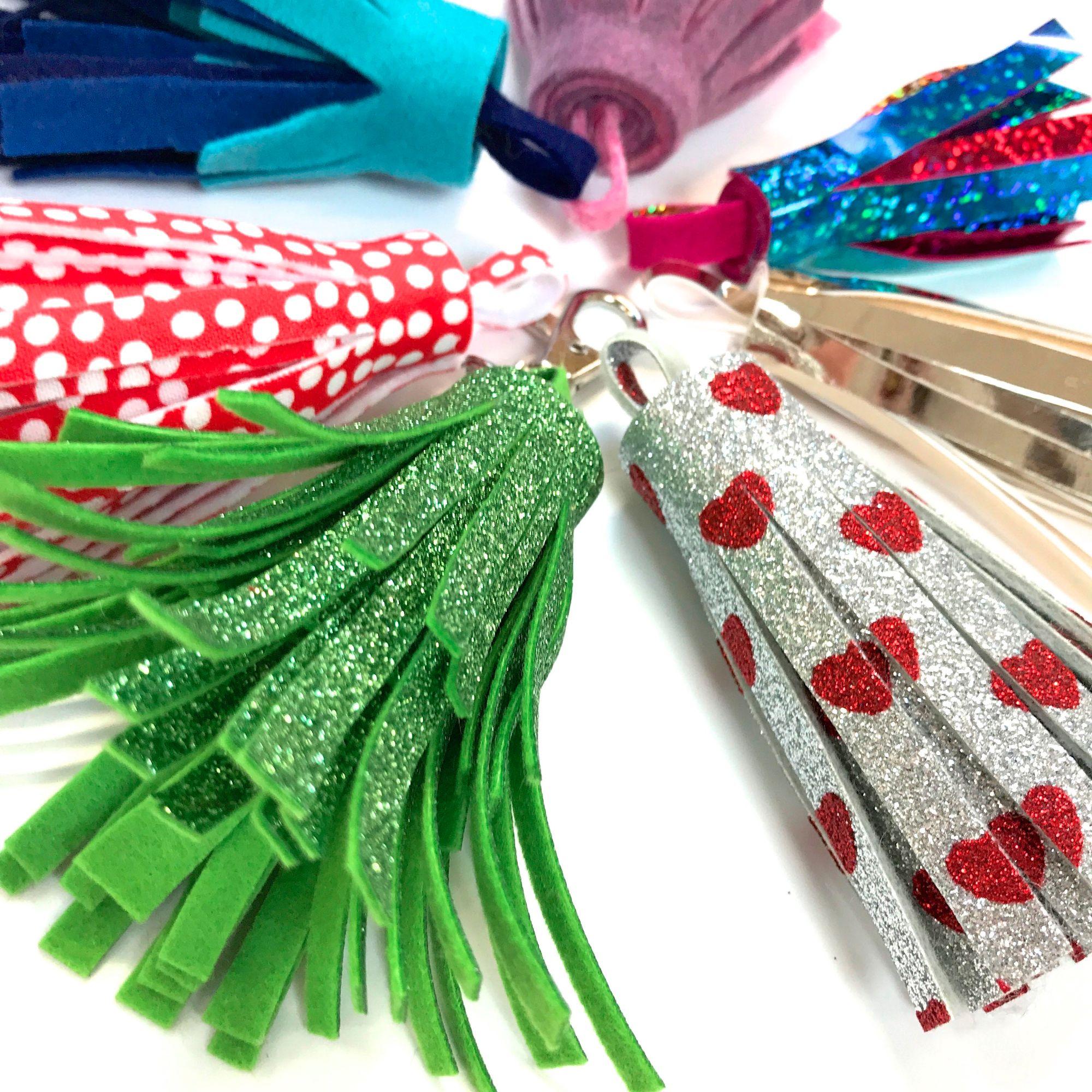 Glitter Fabric Tassels